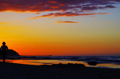 Sunrise at the baltic sea in germany heringsdorf Royalty Free Stock Photography