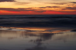 Sunrise at the baltic sea in germany heringsdorf Stock Photo