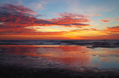 Sunrise at the baltic sea in germany heringsdorf Stock Photos