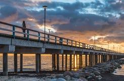 Sunrise at the Baltic sea, Palanga Stock Image