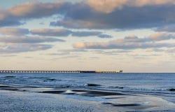 Sunrise at the Baltic sea, Palanga Stock Photography