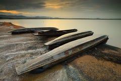 Sunrise Bang Phra reservoir Stock Photography