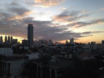 Sunrise. The Sunrise in Bangkok Stock Photos