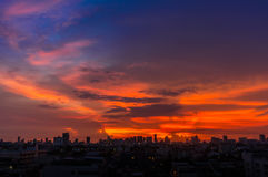 Sunrise at Bangkok, capital city Royalty Free Stock Image