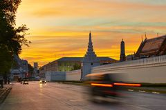 Sunrise in Bangkok Stock Image