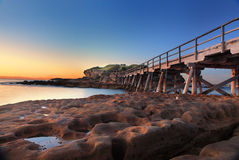 Sunrise at Bare Island, Australia Royalty Free Stock Image