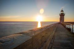 Sunrise in bastia royalty free stock photography
