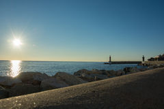 Sunrise in bastia Royalty Free Stock Image
