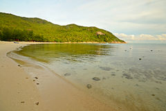 Sunrise on the bay. Golden sunrise on the wonderful bay of Haad Khuad (Bottle Beach), Koh Phangan, Southern Thailand Royalty Free Stock Photos