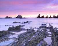 Sunrise on the Bay of Biscay. Royalty Free Stock Photo
