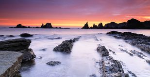Sunrise on the Bay of Biscay. Royalty Free Stock Images