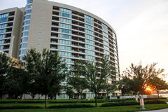 Sunrise at Bay Lakes Towers, Orlando, Florida. Royalty Free Stock Photos