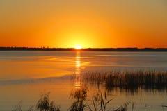 Sunrise on the  Bay. Orange sunrise on the bay Royalty Free Stock Photos