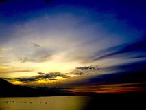 Sunrise on the bay. Sea sky bay landscape beautifiul colorful cloud nature ocean twightlight vietnam Royalty Free Stock Images
