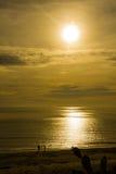 Sunrise on the beach Stock Photo