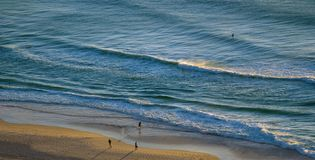 Sunrise on the Beach. In Surfer's paradise on the Gold Coast, Queensland, Australia Royalty Free Stock Photo