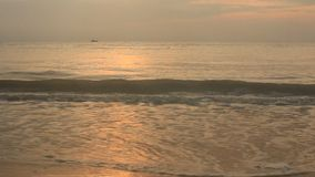 Sunrise on the beach stock video footage