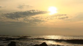 Sunrise on the beach stock footage