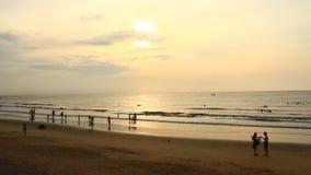 Sunrise on the beach. The Sunrise on the beach stock footage