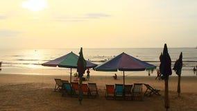 Sunrise on the beach. The Sunrise on the beach stock video footage