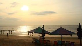 Sunrise on the beach. The Sunrise on the beach stock video