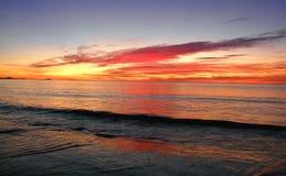 Sunrise. The sunrise on the beach Stock Image