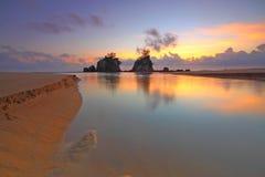Sunrise at beach Stock Photos