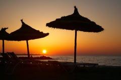 Sunrise on the beach Stock Photos