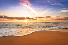 Sunrise on the beach. Stock Images