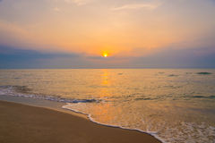 Sunrise on the beach of andaman sea Stock Photo