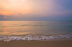 Sunrise on the beach of andaman sea Royalty Free Stock Photos