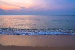 Sunrise on the beach of andaman sea Stock Image