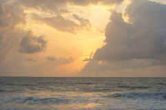 Sunrise. On the beach in asia Stock Image