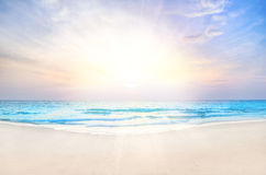 Sunrise beach background Stock Photos