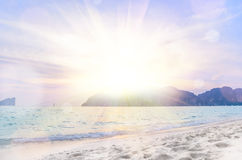 Sunrise beach background Stock Images