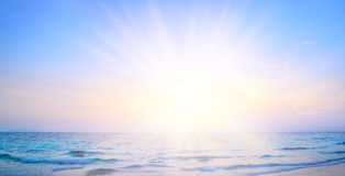 Sunrise beach background Royalty Free Stock Images