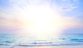 Sunrise beach background Royalty Free Stock Photo