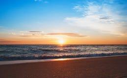 Sunrise on the beach. Beautiful morning Royalty Free Stock Photos