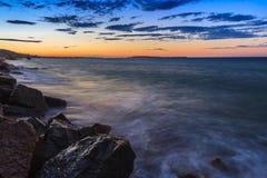 Sunrise beach Stock Photography