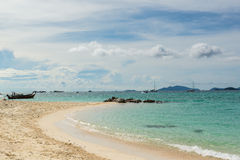 Sunrise beach with blue cloud sky in Koh Lipe island. Royalty Free Stock Images