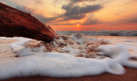 Sunrise at the beach Royalty Free Stock Photography