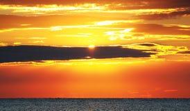 Sunrise at the beach Stock Photos