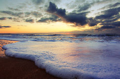 Sunrise at the beach Stock Photography