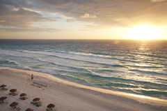 Sunrise on the beach in Cancun, Mexico Stock Photos