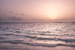 Sunrise on a beach. Caribbean sunrise seen from the Dominican beach Stock Images