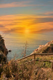 Sunrise on a beach on the Costa Brava Stock Image