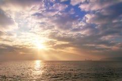 Sunrise at the beach. Dramatic Sunrise at the beach Stock Photos
