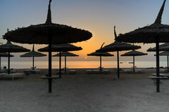 Sunrise on the beach, Egypt Stock Photography