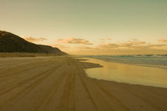 Sunrise on a beach in Fraser Island, Australia Royalty Free Stock Image