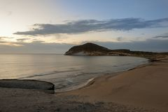 Sunrise on the beach of the Genoveses of Cabo de Gata. Spain royalty free stock photography